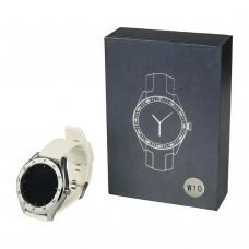 Смарт часы W10 серебристые