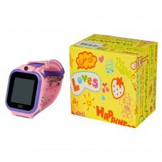 Детские смарт часы Т16 розовые c поддержкой sim и камерой
