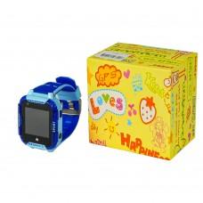 Детские смарт часы    Т19 синие с поддержкой nano-sim (4G/LTE), с камерой, фонариком, влагостойкие