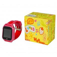 Детские смарт часы М06 розовые с поддержкой micro-sim, камерой, влагостойкие