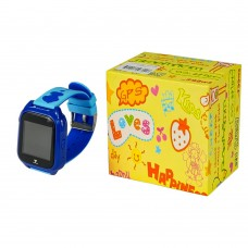 Детские смарт часы    М06 синие с поддержкой micro-sim, камерой, влагостойкие
