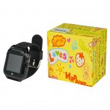 Детские смарт часы    М06 чёрные с поддержкой micro-sim, камерой, влагостойкие