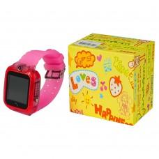Детские смарт часы М09 розовые с поддержкой micro-sim, камерой, влагостойкие