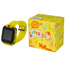 Детские смарт часы М09 жёлтые с поддержкой micro-sim, камерой, влагостойкие