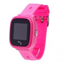 Детские смарт часы    HW8  с функцией GPS и WiFi и светящимся ремешком розовые