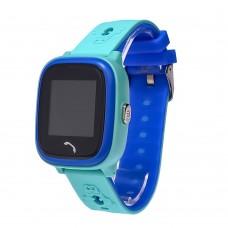 Детские смарт часы    HW8  с функцией GPS,WiFi и светящимся ремешком синий