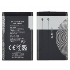 Аккумулятор BL-5C  для Nokia  2300/ 3100/ 5030/ 6230/ 6230i/ 6600/ 6630/ C1-00/ C2-00/ E50/ N70/ N71/ N72/ X2-01