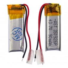 Аккумулятор 350926P универсальный с контроллером, 4,5 х 9 х 26 мм (90 mAh)