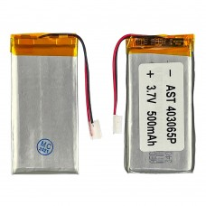 Аккумулятор 403065P универсальный с контроллером, 3,8 х 30 х 61 мм (500 mAh)