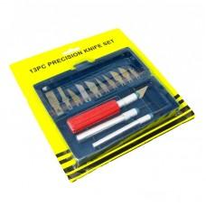 Набор скальпелей  AIDA  A-313 (нож d=7mm с лезвиями 6шт, нож d=10mm с лезвиями 4шт, нож d=10mm с усиленной рукояткой)