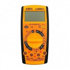 Мультиметр цифровой  AIDA  A-9205A+ с функцией автоотключения (ток до 10A)