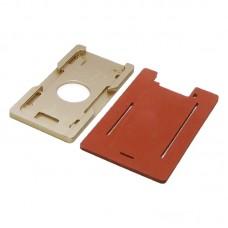 Комплект форм (из металла и резины)  для APPLE  iPhone 6/6S, для отцентровки и склеивания дисплея со стеклом оснащённым дисплейной рамкой