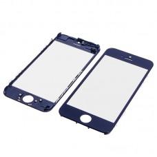 Стекло тачскрина  для Apple  iPhone 5C чёрное с рамкой и OCA плёнкойHC