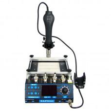 Новинка Паяльная станция  WEP  853AA (ИК преднагреватель 120 x 120 мм, фен с держателем)
