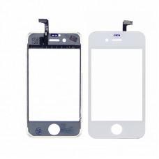 Тачскрин  для APPLE  iPhone 4S белый с дисплейной рамкой