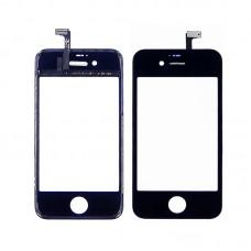 Тачскрин  для APPLE  iPhone 4S чёрный с дисплейной рамкой