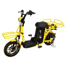 "Электро-велоскутер грузовой  SZOUX  GIANT, желтый, колеса 14"", моторколесо 350W, аккумулятор 48V 20Ah (960Wh)"