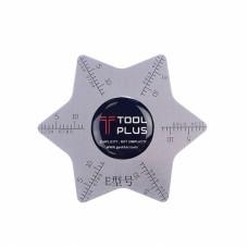 Карта металлическая  Tool Plus  звезда шестиугольная, для разборки