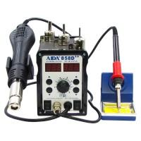 Паяльная станция  AIDA  858D++ бескомпрессорная, фен, паяльник с нагревательным элементом Hakko