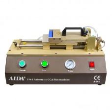 Ламинатор OCA и поляризационной плёнки A-765 с пневмоприводом передвижения рабочей платформы (10 х 16 см) и встроенным компрессором