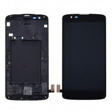 Дисплей  для LG  K8 К350 E/N с чёрным тачскрином и корпусной рамкой