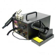 Паяльная станция AIDA 852D+ компрессорная, фен, паяльник