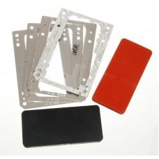Комплект форм YMJ iPhone XR, 11 (Al) Алюминевые + резиновые , для фиксации стекла и ламинации при склеивании в ламинаторе Forward RMB-1 EDGE, RMB-2 EDGE, CEO EDGE