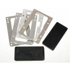Комплект форм YMJ iPhone X (Al) Алюминевые + резиновые , для фиксации стекла и ламинации при склеивании в ламинаторе Forward RMB-1 EDGE, RMB-2 EDGE, CEO EDGE