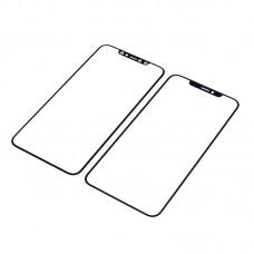 Стекло тачскрина  для Apple  iPhone XS Max чёрное с рамкой и OCA плёнкой HC