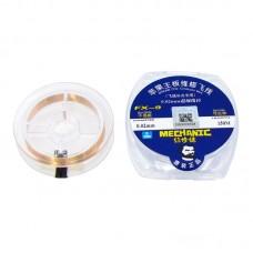 Проволока в катушке MECHANIC  FX-9 (для монтажа перемычек, D=0.02 mm, L=150 m)