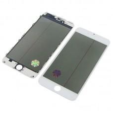 Стекло тачскрина  для Apple  iPhone 6 Plus белое с рамкой, OCA и поляризационной плёнкой HC