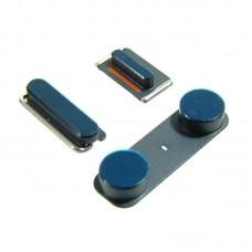 Комплект боковых кнопок  для APPLE  iPhone 5 (вкл.-выкл./громкости/беззвучный режим) тёмно-синяя