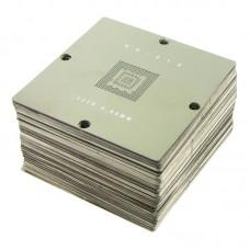 Набор трафаретов под специализированный столик    BGA 90х90 мм. (170 шт.) для ноутбуков/ПК/Xbox 360/PS3/PSP/Wii