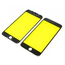 Стекло тачскрина  для APPLE  iPhone 6 Plus чёрное с рамкой high copy