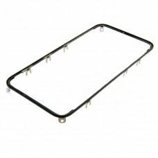 Дисплейная рамка  для APPLE  iPhone 4 чёрная с термоклеем