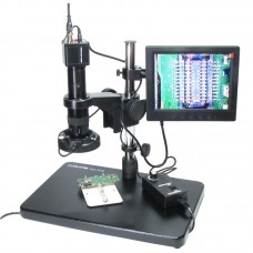 """Видеомикроскоп с монитором 8""""  BAKU  BA-002 (подсветка диодная с регулировкой, фокус 30-156 мм, кратность увеличения 180X, 14мП)"""
