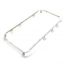 Дисплейная рамка  для APPLE  iPhone 4 белая со скотчем