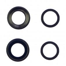 Стекло камеры  для APPLE  iPhone 6 Plus чёрное с серой рамкой
