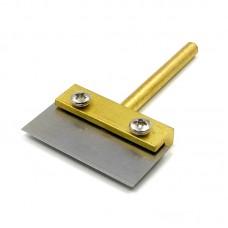 Жало паяльника с лопаткой и сменным лезвием    38 mm, d=5 mm для удаления остатков клея после разделения комплекта дисплей + тачскрин