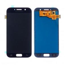 Дисплей  для SAMSUNG  A520 Galaxy A5 (2017) с чёрным тачскрином, с регулируемой подсветкой