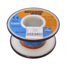 Припой  MECHANIC  HX-T100 0,3 мм, 55 гр, Sn 63% , Pb 37%
