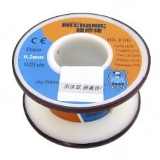 Припой  MECHANIC  HX-T100 0,2 мм, 55 гр, Sn 63% , Pb 37%