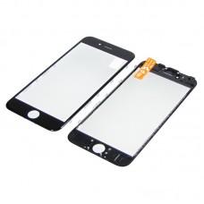Стекло тачскрина  для Apple  iPhone 6s чёрное с рамкой и OCA плёнкойHC