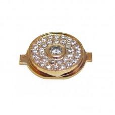 Кнопка Home  для APPLE  IPHONE 4 золотой с кристаллами Swarovski