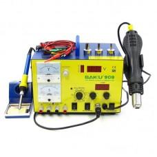 Паяльная станция  BAKU  BK909 фен, паяльник, блок питания 15V 1A, тестер, стрелочная и цифровая индикация, RF индикатор