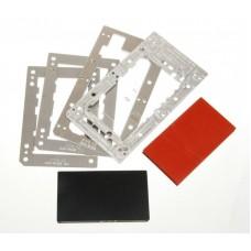 Комплект форм YMJ iPhone 7 plus, 8 + (Al) Алюминевые + резиновые , для фиксации стекла и ламинации при склеивании в ламинаторе Forward RMB-1 EDGE, RMB-2 EDGE, CEO EDGE