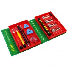 Набор инструментов  AIDA  AD-3801 (отвёртка с битами 28 шт, 2 удлинителя, отвёртки *0.8 и +1.2, пинцет, 2 медиатора, присоска)