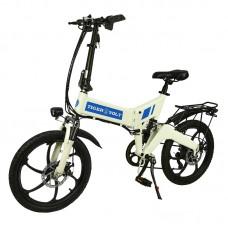 """Электровелосипед  ZM  TigerVolt 20, белый, колеса 20"""", 7-скоростной, моторколесо 350W, аккумулятор 36V 7,5Ah (270Wh)"""