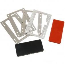 Комплект форм YMJ iPhone 11pro (Al) Алюминевые + резиновые , для фиксации стекла и ламинации при склеивании в ламинаторе Forward RMB-1 EDGE, RMB-2 EDGE, CEO EDGE