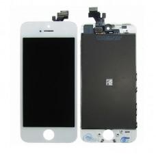 Дисплей  для APPLE  iPhone 5 с белым тачскрином high copy